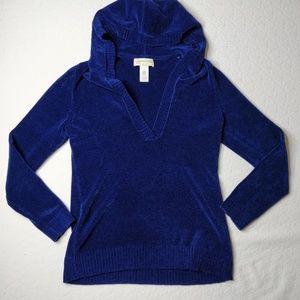 Jones New York Sport Chenille Hooded Sweater